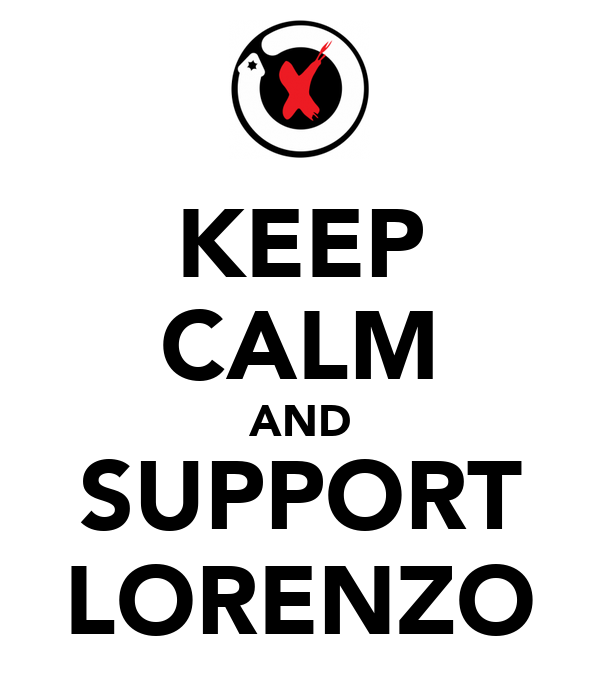 KEEP CALM AND SUPPORT LORENZO