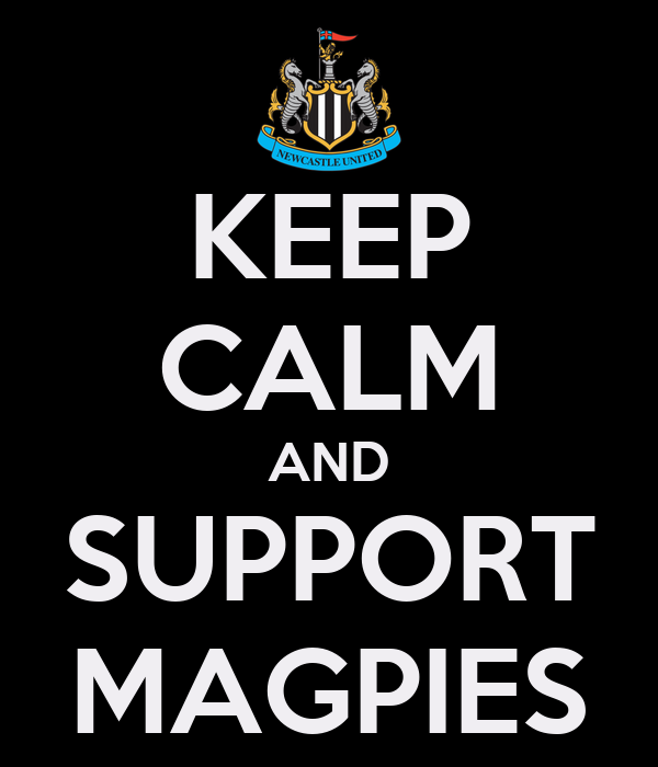 KEEP CALM AND SUPPORT MAGPIES