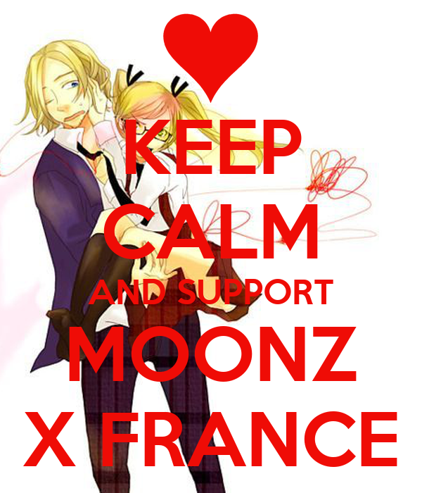 KEEP CALM AND SUPPORT MOONZ X FRANCE