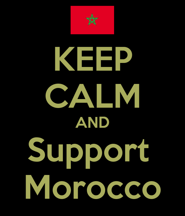KEEP CALM AND Support  Morocco