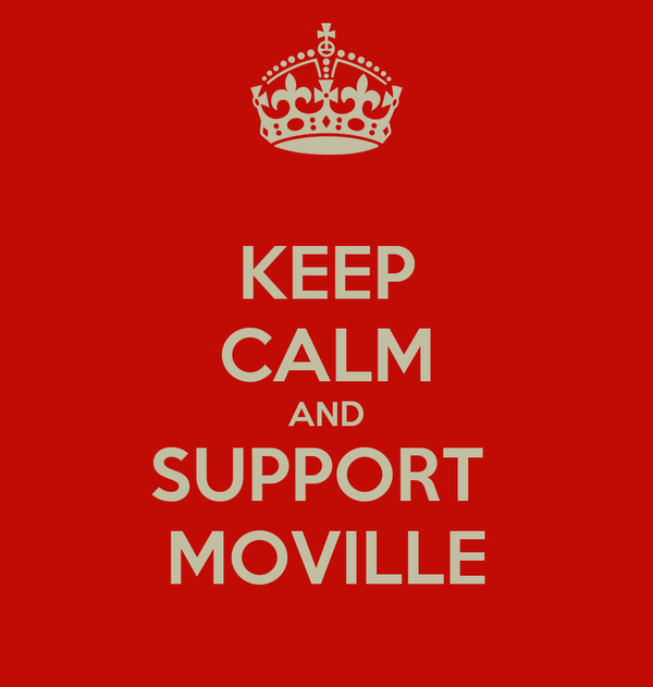 KEEP CALM AND SUPPORT  MOVILLE
