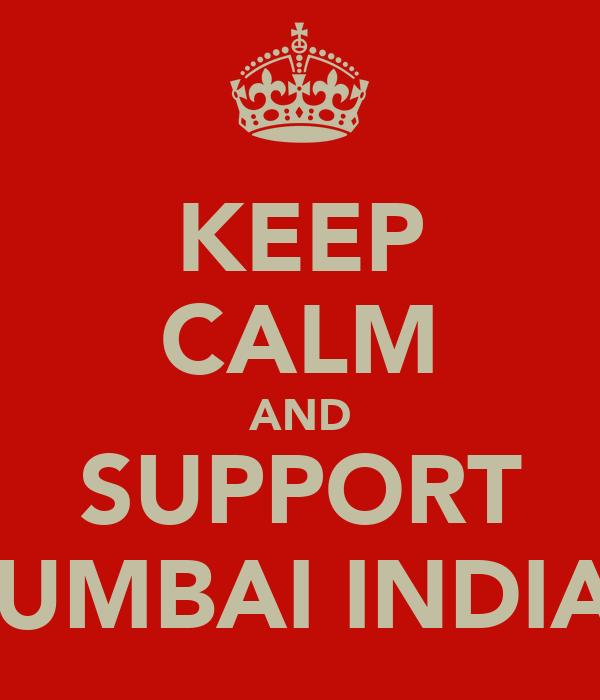 KEEP CALM AND SUPPORT MUMBAI INDIAN