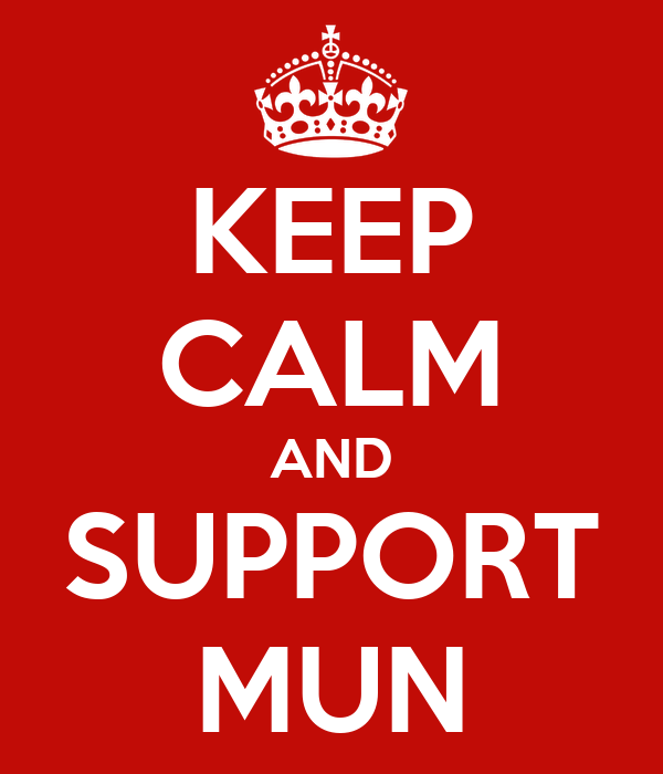 KEEP CALM AND SUPPORT MUN