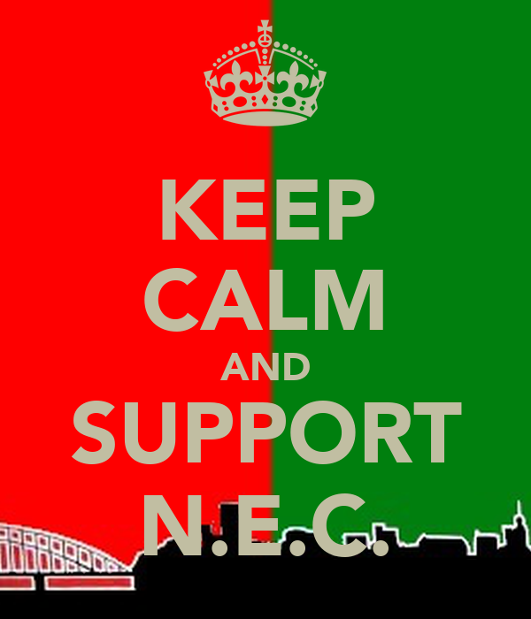 KEEP CALM AND SUPPORT N.E.C.