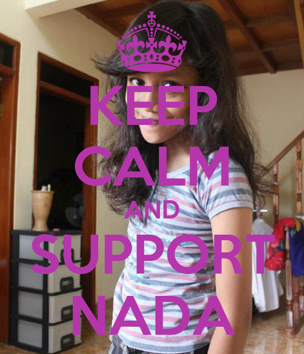 KEEP CALM AND SUPPORT NADA