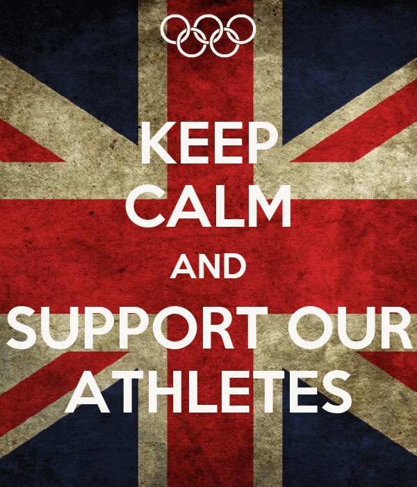 KEEP CALM AND SUPPORT OUR ATHLETES