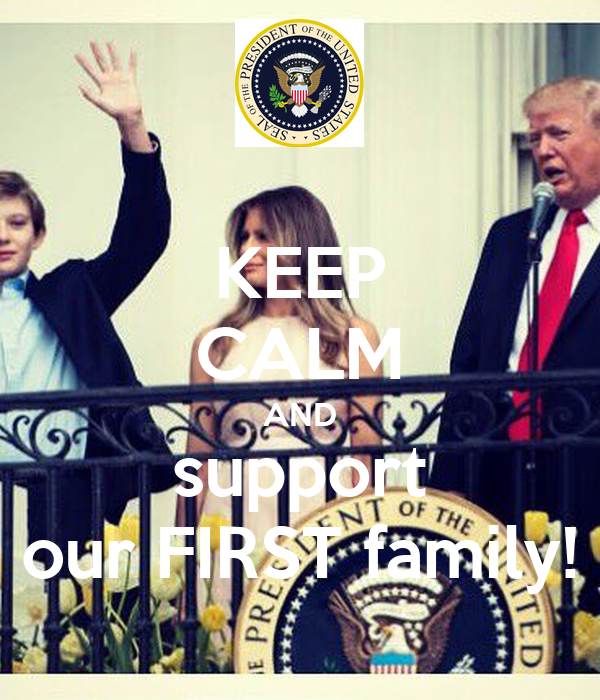 KEEP CALM AND support our FIRST family!
