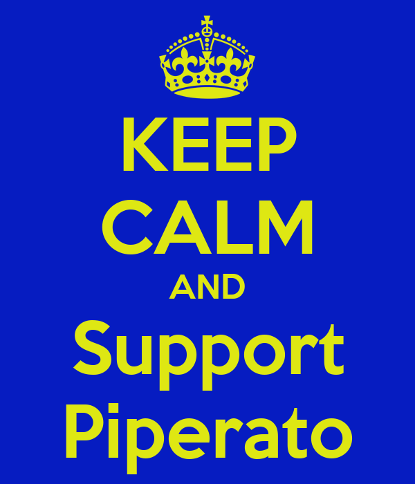 KEEP CALM AND Support Piperato