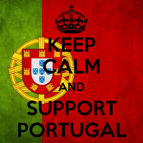KEEP CALM AND SUPPORT    PORTUGAL