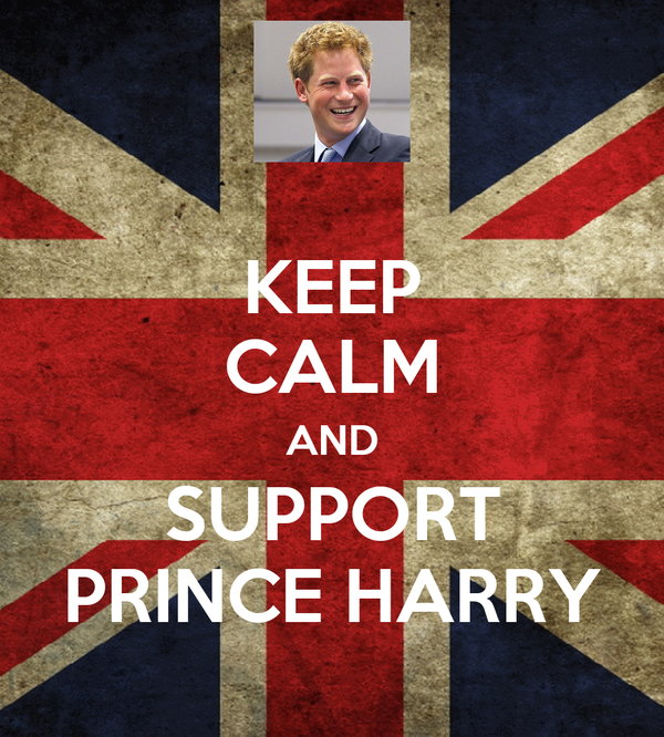 KEEP CALM AND SUPPORT PRINCE HARRY