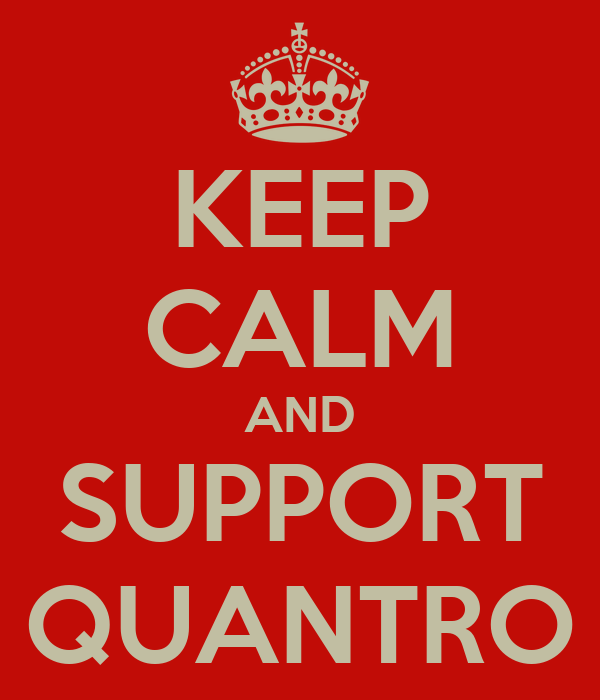 KEEP CALM AND SUPPORT QUANTRO