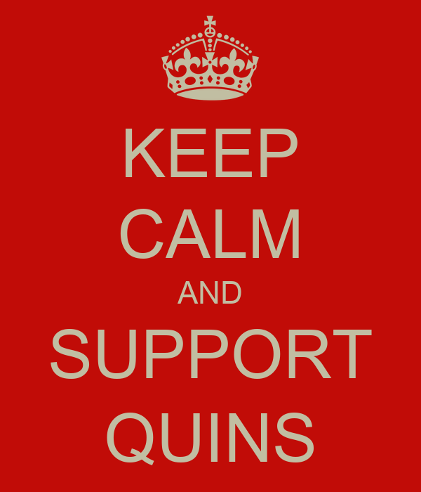 KEEP CALM AND SUPPORT QUINS