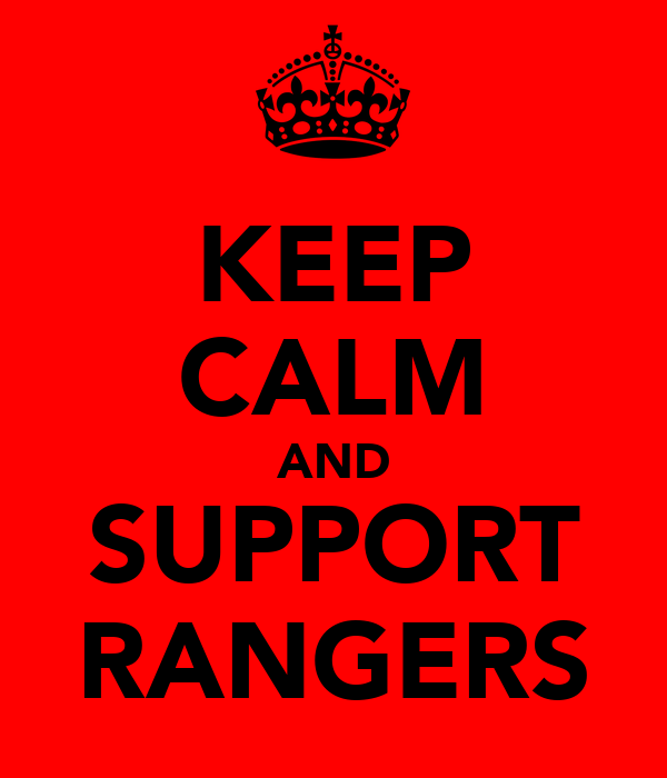 KEEP CALM AND SUPPORT RANGERS