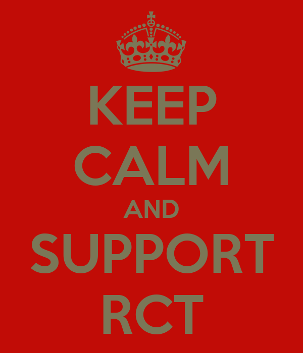 KEEP CALM AND SUPPORT RCT