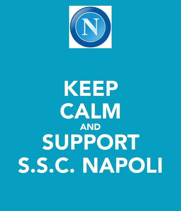 KEEP CALM AND SUPPORT S.S.C. NAPOLI