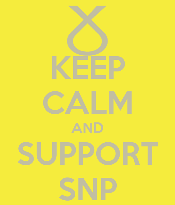 KEEP CALM AND SUPPORT SNP