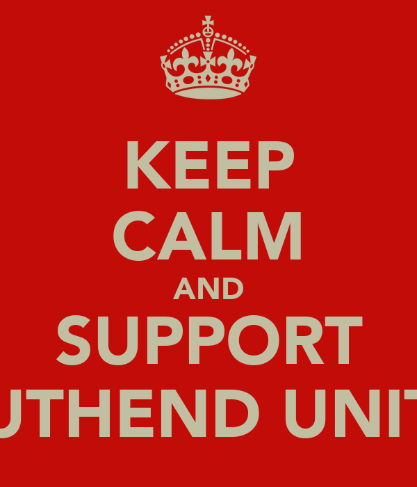 KEEP CALM AND SUPPORT SOUTHEND UNITED