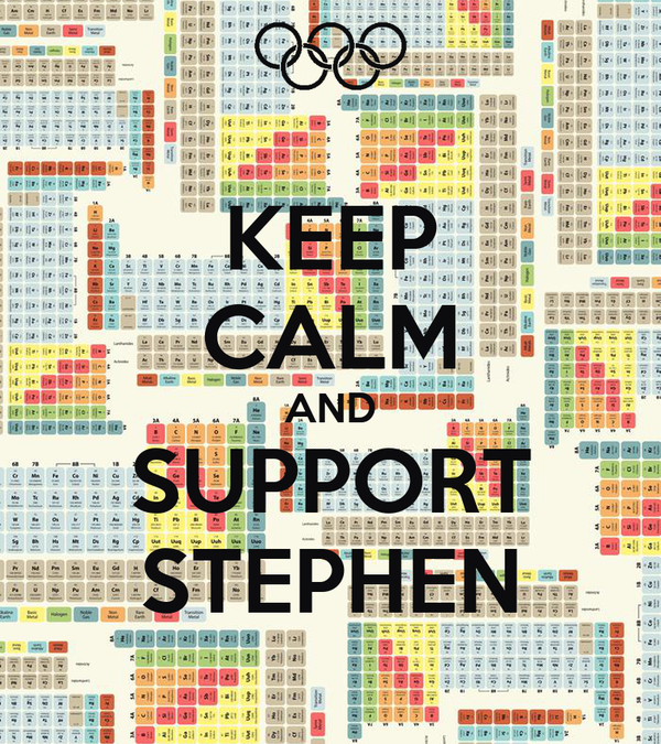 KEEP CALM AND SUPPORT STEPHEN