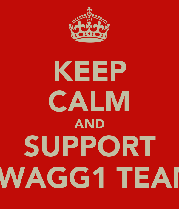 KEEP CALM AND SUPPORT SWAGG1 TEAM