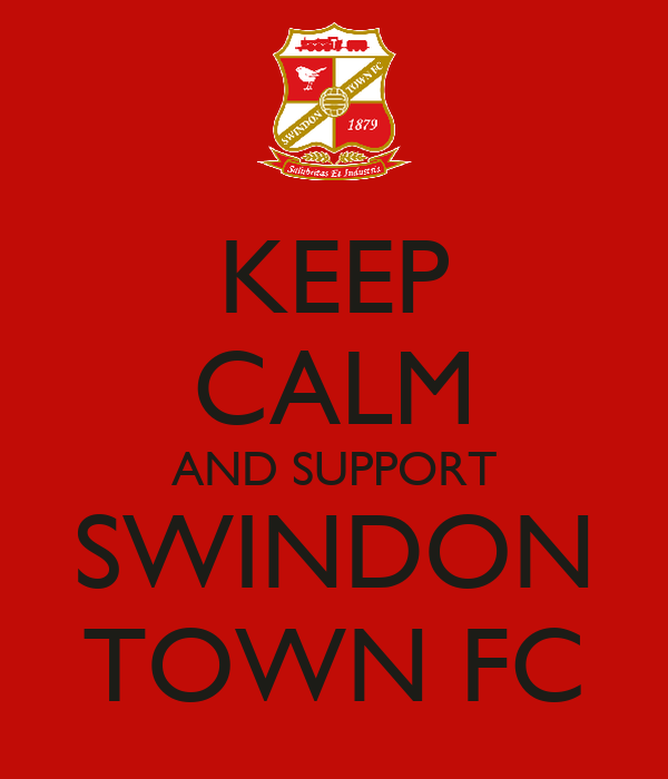 KEEP CALM AND SUPPORT SWINDON TOWN FC