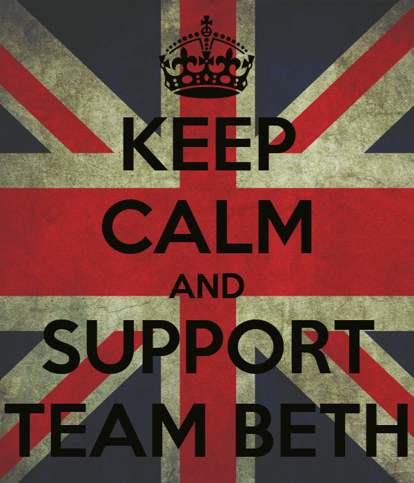 KEEP CALM AND SUPPORT TEAM BETH