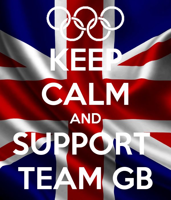 KEEP CALM AND SUPPORT  TEAM GB