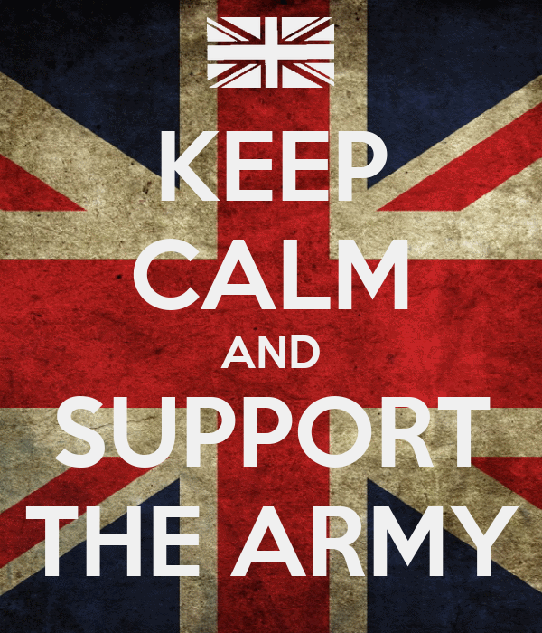 KEEP CALM AND SUPPORT THE ARMY