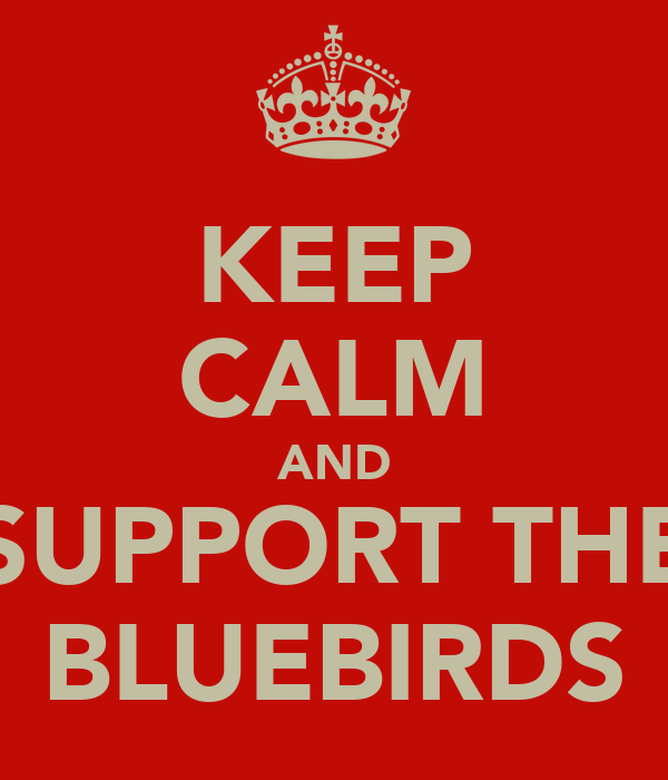 KEEP CALM AND SUPPORT THE BLUEBIRDS