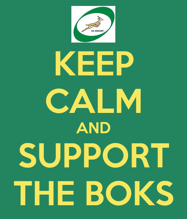 KEEP CALM AND SUPPORT THE BOKS