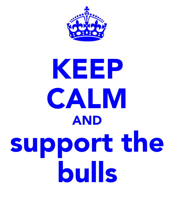 KEEP CALM AND support the bulls
