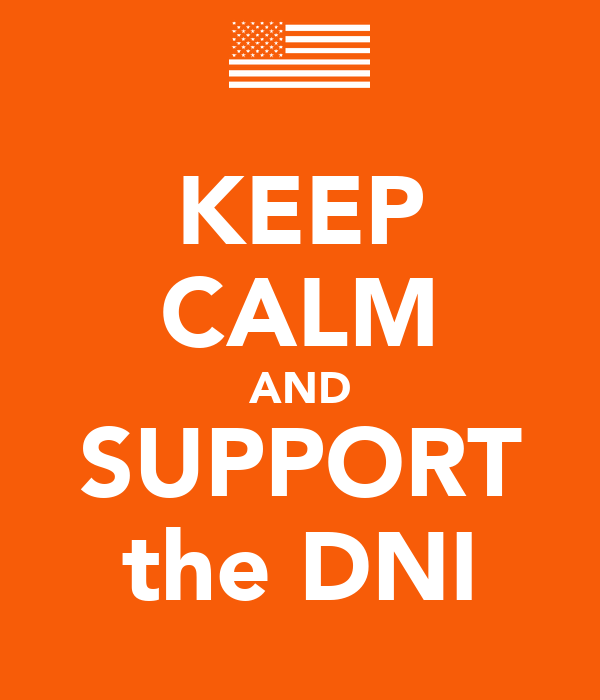 KEEP CALM AND SUPPORT the DNI