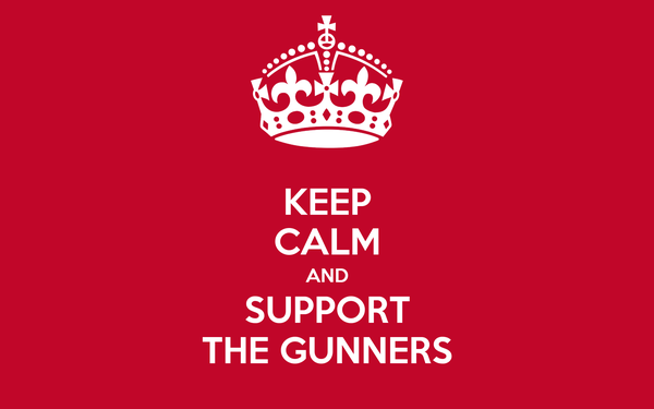 KEEP CALM AND SUPPORT THE GUNNERS