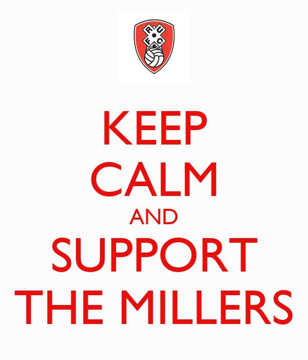 KEEP CALM AND SUPPORT THE MILLERS