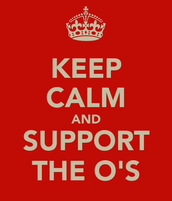 KEEP CALM AND SUPPORT THE O'S