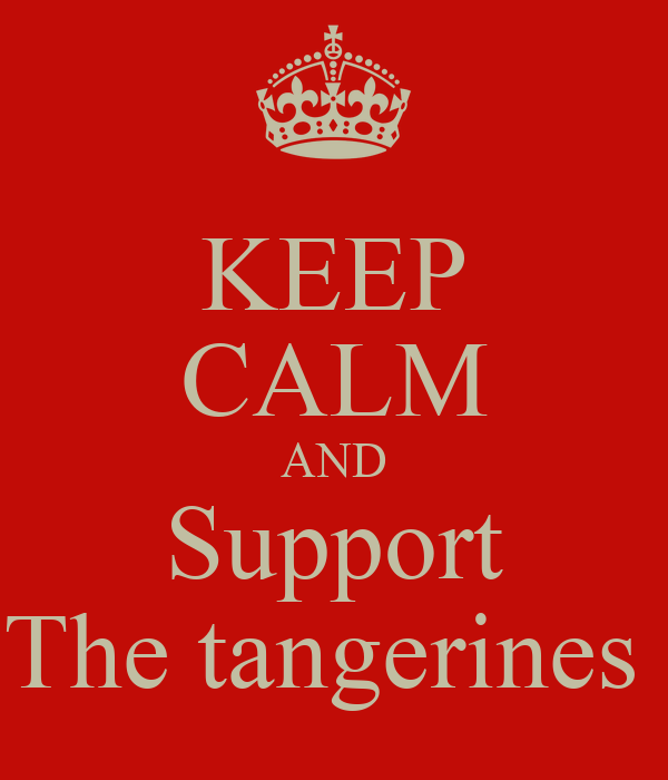 KEEP CALM AND Support The tangerines