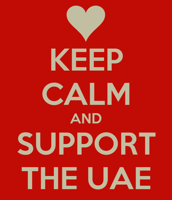 KEEP CALM AND SUPPORT THE UAE