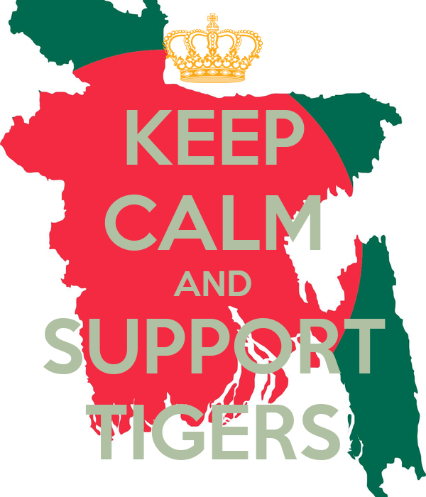 KEEP CALM AND SUPPORT TIGERS