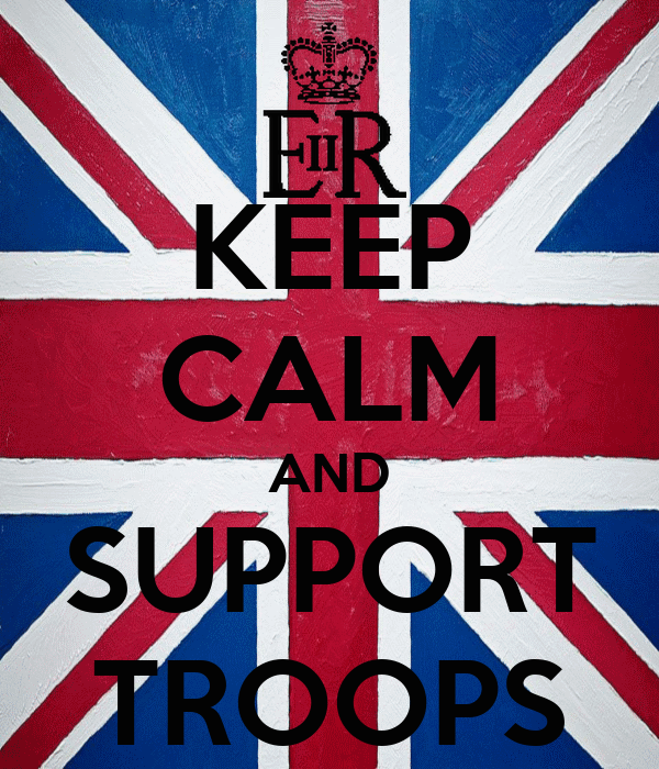 KEEP CALM AND SUPPORT TROOPS