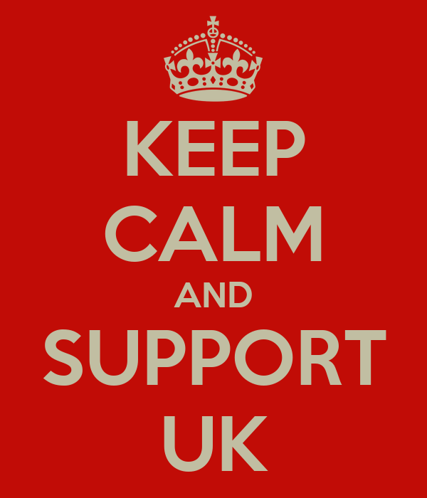 KEEP CALM AND SUPPORT UK