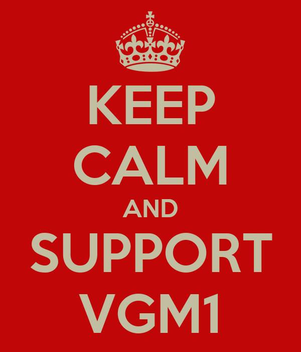 KEEP CALM AND SUPPORT VGM1
