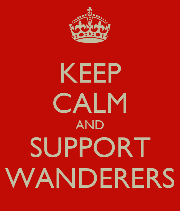 KEEP CALM AND SUPPORT WANDERERS