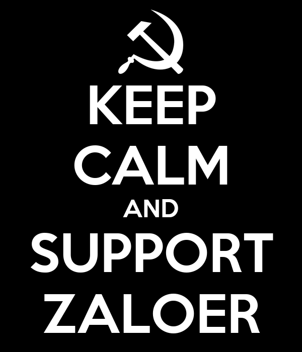 KEEP CALM AND SUPPORT ZALOER