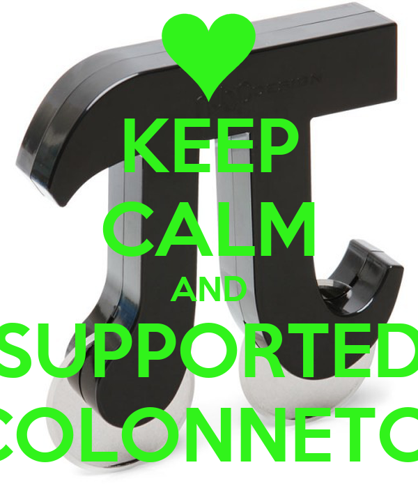 KEEP CALM AND SUPPORTED COLONNETO