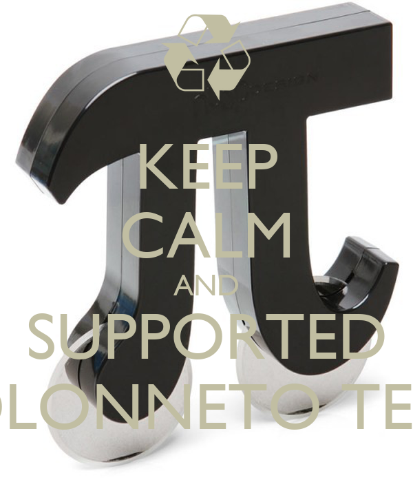 KEEP CALM AND SUPPORTED COLONNETO TEAM