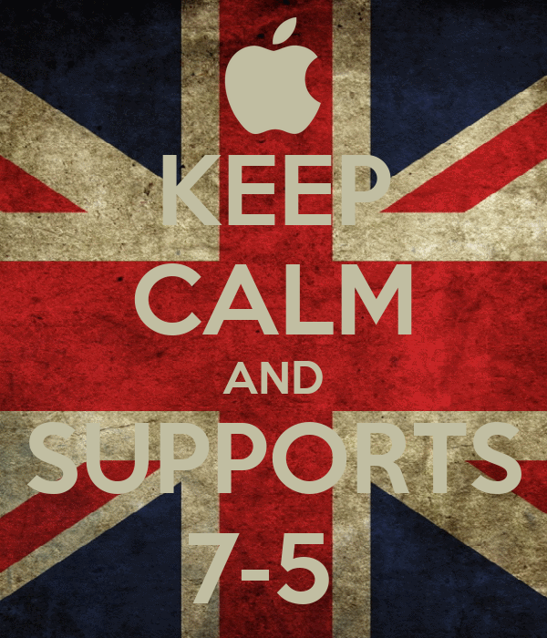 KEEP CALM AND SUPPORTS 7-5