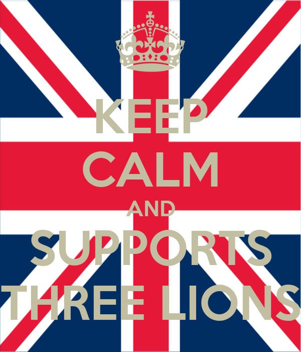 KEEP CALM AND SUPPORTS THREE LIONS