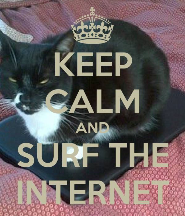 KEEP CALM AND SURF THE INTERNET