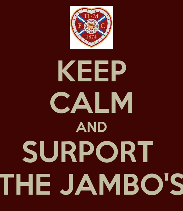 KEEP CALM AND SURPORT  THE JAMBO'S