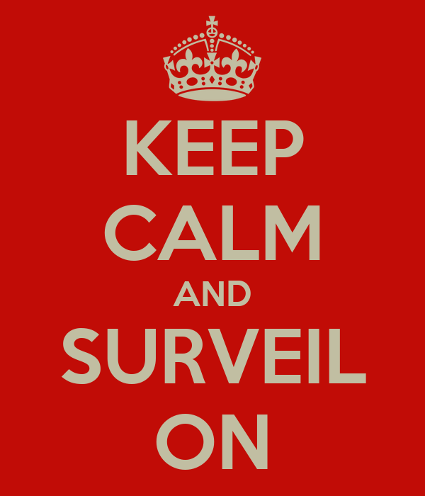 KEEP CALM AND SURVEIL ON
