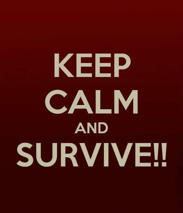 KEEP CALM AND SURVIVE!!